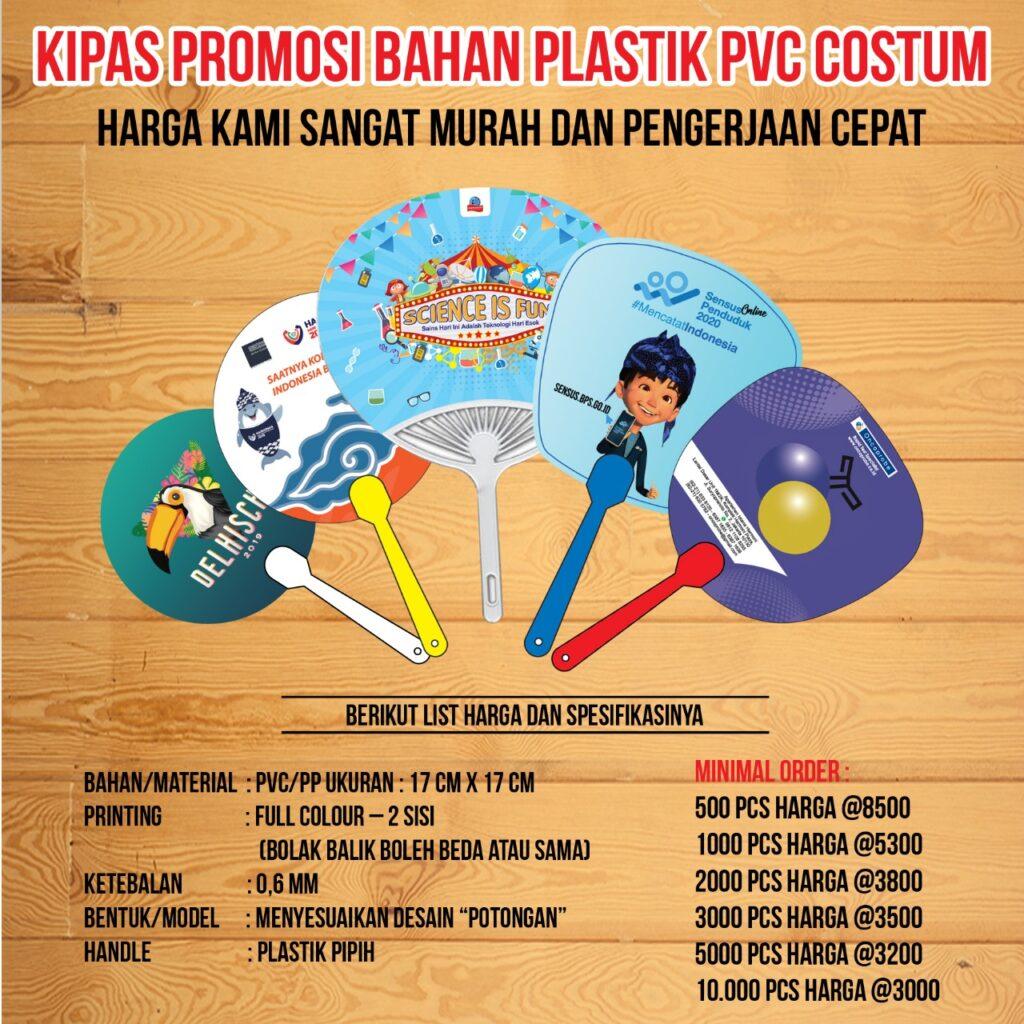 Kipas Promosi Plastik PVC